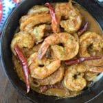 camarones a la diabla - mexican spicy shrimp - ready to serve