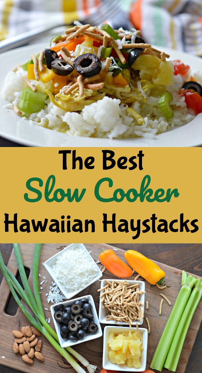 Learn how to make this delicious slow cooker Hawaiian Haystacks recipe. It is easy to make and perfect for feeding a large crowd.