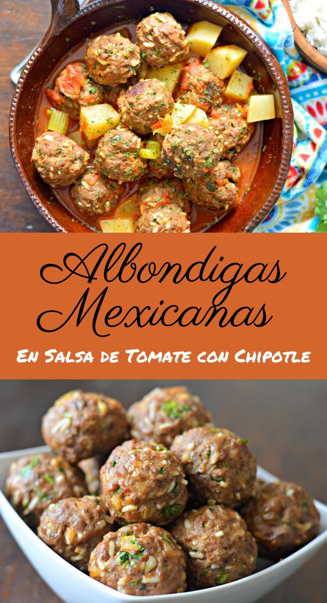 Deliciosas, frescasy muy faciles de preparar asi son esta de receta de albondigas mexicanas que te encantaran!