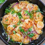 mexican style garlic shrimp (camarones al mojo de ajo) - ready to eat