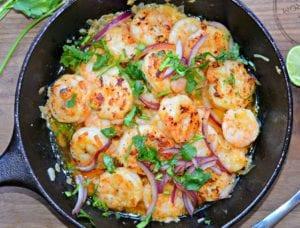 mexican style garlic shrimp (camarones al mojo de ajo) - ready to eat
