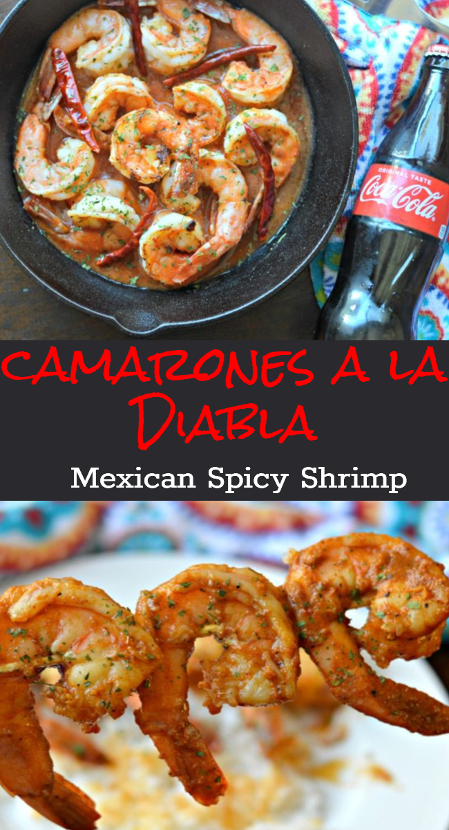 Learn how to make this delicious Mexican classic Camarones a la Diabla recipe. It is a perfect appetizer to serve on game day along with an ice-cold Coca-Cola.