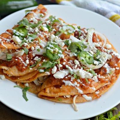 Entomatadas Mexicanas de Pollo