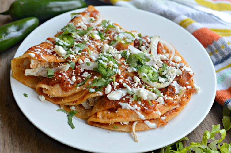entomatadas recipe on plate and ready to eat