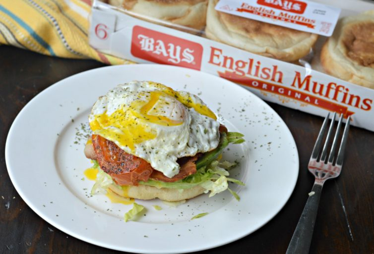 Breakfast BLT with bays english muffins