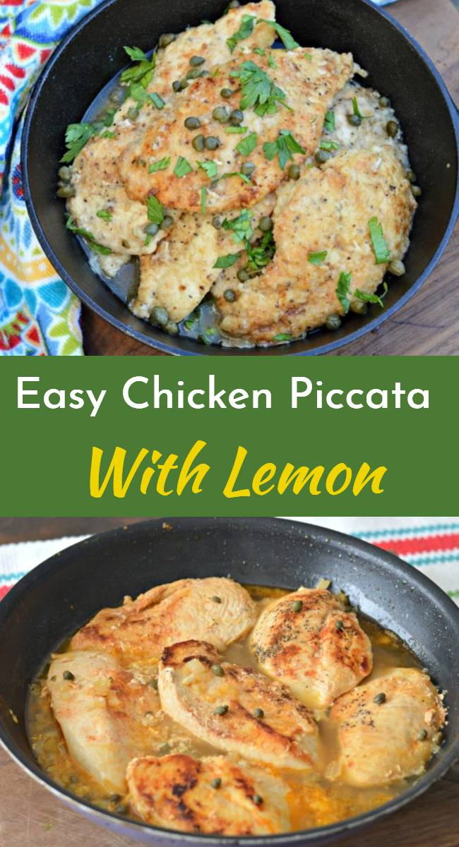 Learn how to make this delicious and easy lemon chicken piccata recipe. It is so flavorful and can be accompanied by a variety of delicious side dishes.