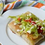 Chimichanga with smoked pork