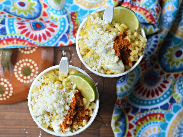 Mexican esquites from above