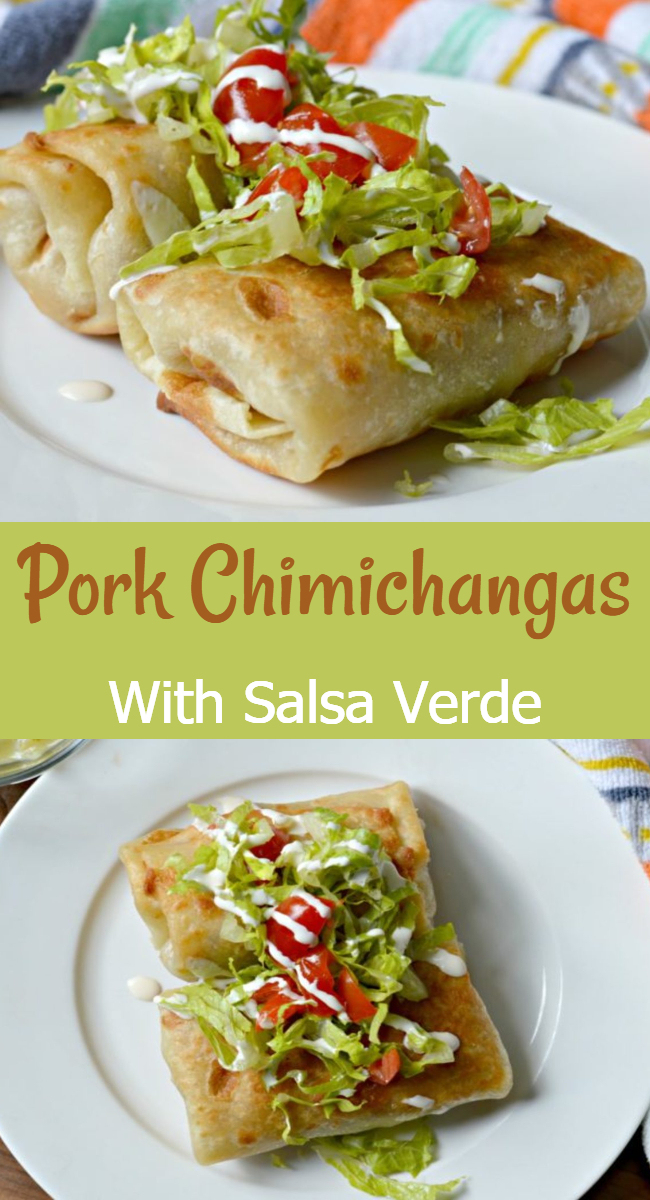 Learn how to make these delicious pork chimichangas with salsa verde for a tex-mex meal that all of your guests will fall in love with!