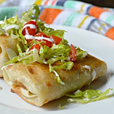 The Best Pork Chimichangas Recipe with Salsa Verde