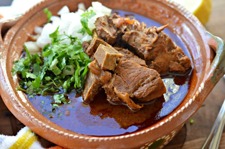 Birria in a bowl