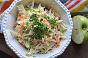delicious apple slaw from up above