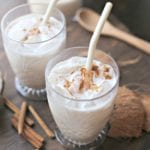 horchata de coco (coconut horchata) with cinnamon - delicious!