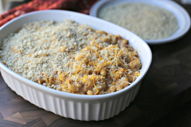 getting ready to put this baked mac and cheese in the oven