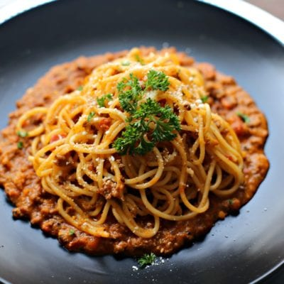 Amazing Bolognese Spaghetti with Rosa Sauce