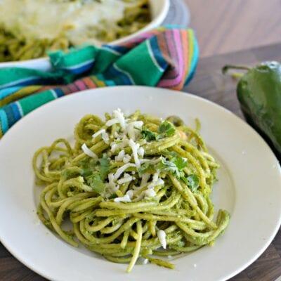 Espagueti Verde Mexicano