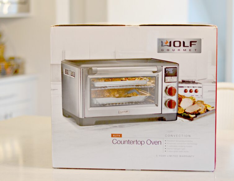 box showing wolf countertop oven