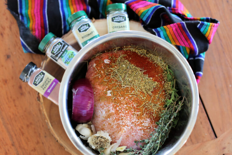 barbacoa de borrego ready to be cooked in the pressure cooker